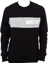 BLUZA NIKE SB Everett Crew Top Black / Dark Heather Grey