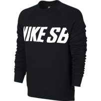 BLUZA NIKE SB Everett Motion Crew Black / White