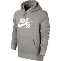 BLUZA NIKE SB Icon Hoodie Dark Heather Grey / White