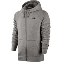 BLUZA NIKE SB SB Icon Full Zip Dark Grey Heather / Black