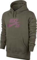 BLUZA NIKE SB SB Icon Hoodie Medium Olive / Elemental Pink