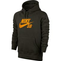 BLUZA NIKE SB SB Icon Hoodie Sequoia / Circuit Orange