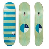 DECK POLAR SKATE CO. TEAM MODEL - BLOCK STRIPE (MINT/TEAL) 8,625""