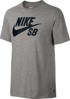 KOSZULKA NIKE SB Logo T-Shirt Dark Grey Heather / Black