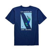 KOSZULKA POLAR SKATE CO. JUST MINDING MY OWN BUSINESS TEE (MIDNIGHT BLUE)