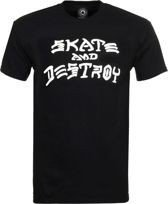 KOSZULKA THRASHER SKATE AND DESTROY (BLACK)