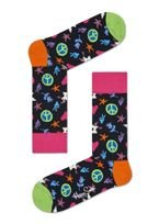 SKARPETY HAPPY SOCKS PEACE AND LOVE (BLACK)