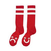 SKARPETY POLAR SKATE CO. HAPPY SAD CLASSIC SOCK (RED)