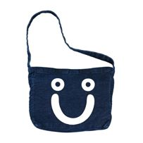 TORBA POLAR SKATE CO. HAPPY SAD DENIM TOTE BAG (DARK BLUE)