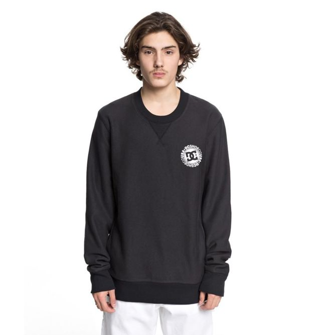 BLUZA DC SKATEBOARDING CORE SWEATSHIRT (BLACK)