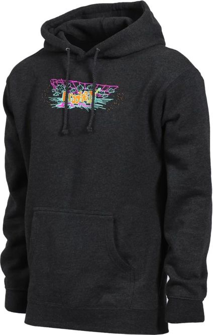 BLUZA KROOKED OFF THE GRID HOODIE (BLACK)