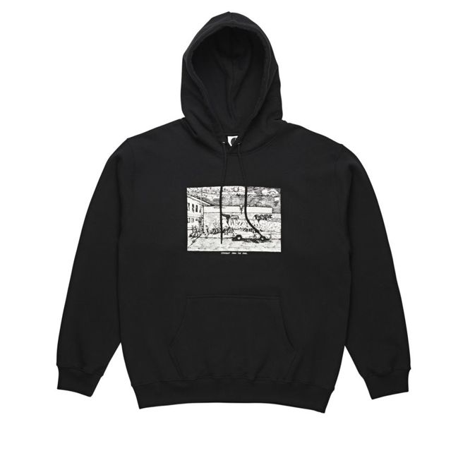 BLUZA POLAR SKATE CO. STRAIGHT FROM THE HOOD HOODIE (BLACK)
