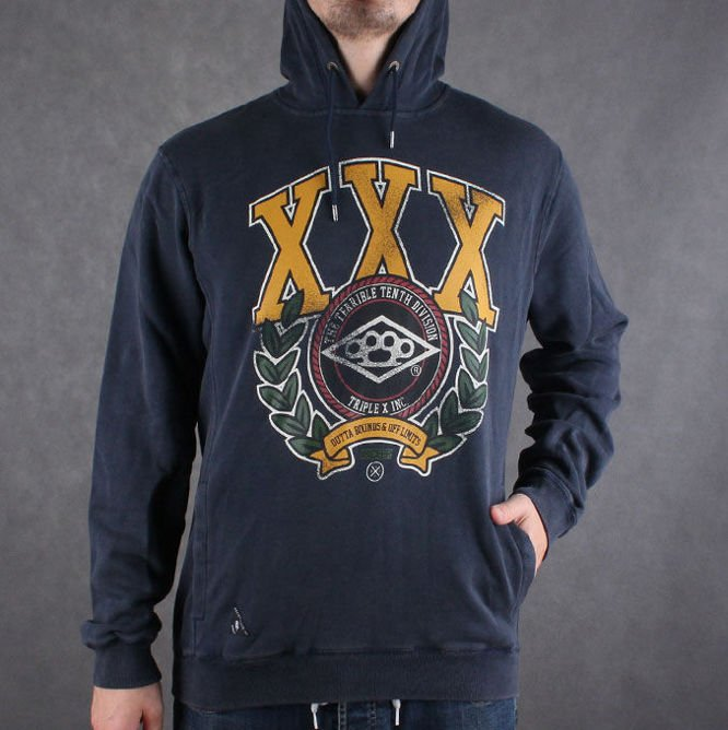 Bluza 10 Deep Three X University Vintage Hoody Navy