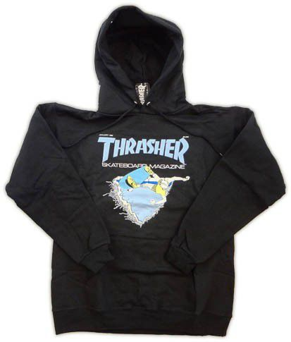 Bluza z kapturem Thrasher First Cover Hood Black