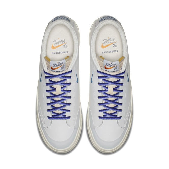 Buty Nike SB Zoom Blazer Low XT x Quartersnacks (White / University Blue)