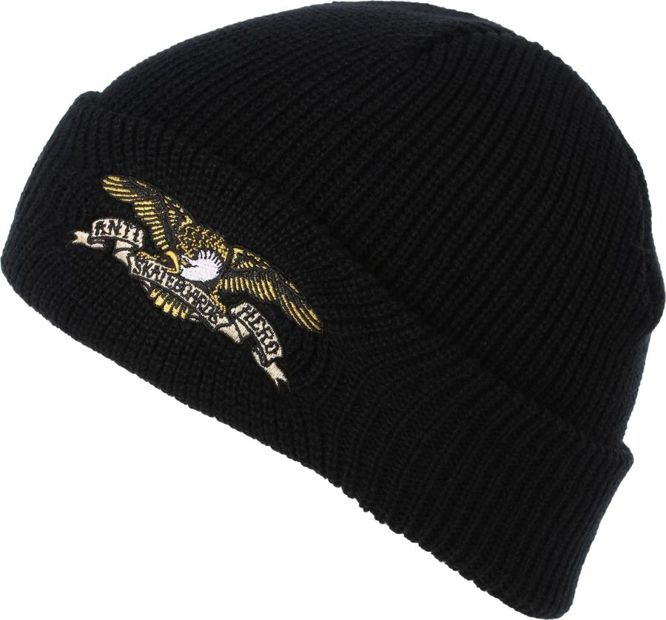 CZAPKA ANTIHERO EAGLE EMBROIDERED CUFF BEANIE (BLACK)