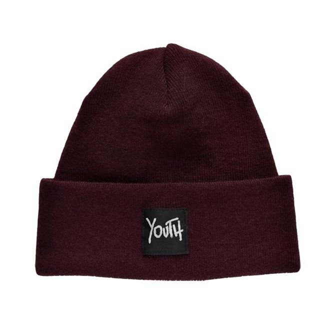 CZAPKA ZIMOWA YOUTH SKATEBOARDS OG LOGO PLAIN BEANIE (BURGUNDY)