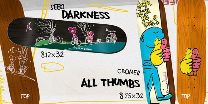 "DECK KROOKED SKATEBOARDS SEBO DARKNESS 8,12"" x 32"""