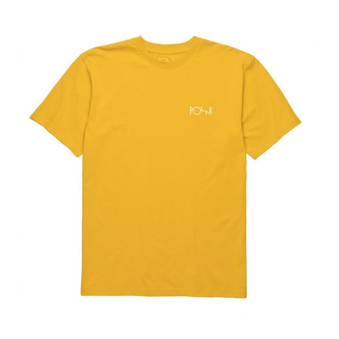 KOSZULKA POLAR SKATE CO. STROKE LOGO TEE (YELLOW)