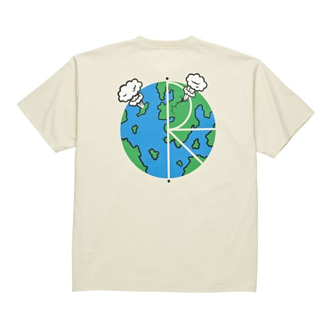 KOSZULKA POLAR SKATE CO. WORLD FILL LOGO TEE (SAND)