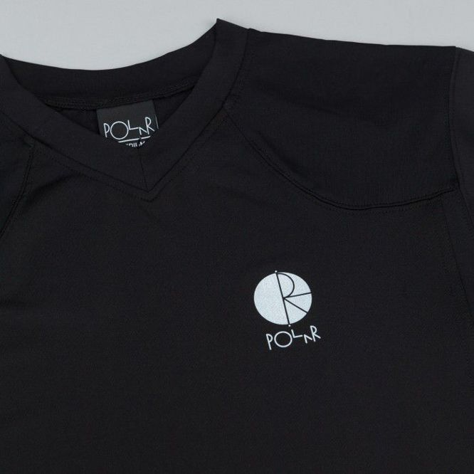 Koszulka POLAR SKATE CO. Fill Logo Chest V-Neck Jersey Black