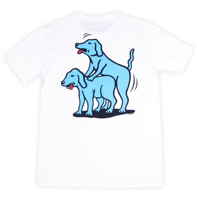 Koszulka Polar Skate Co. Humping Dogs Tee White/ Blue