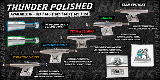TRUCKI THUNDER POLISHED HOLLOW LIGHTS HI 148