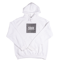 BLUZA Z KAPTUREM SOUR SKATEBOARDS SOURGROUND (WHITE)