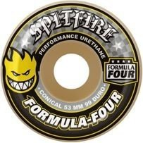 Koła Spitfire Formula Four Conical Yellow Print 99D 53 mm