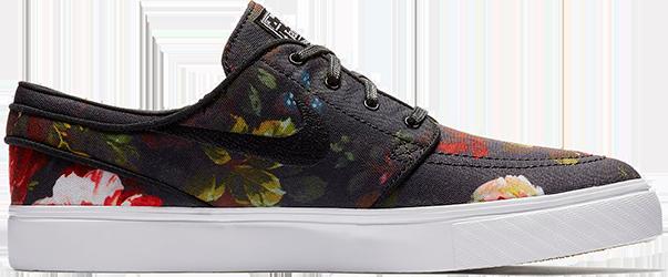 7db0fd7ac5717 Buty Nike SB Zoom Stefan Janoski CNVS (Black / Floral)
