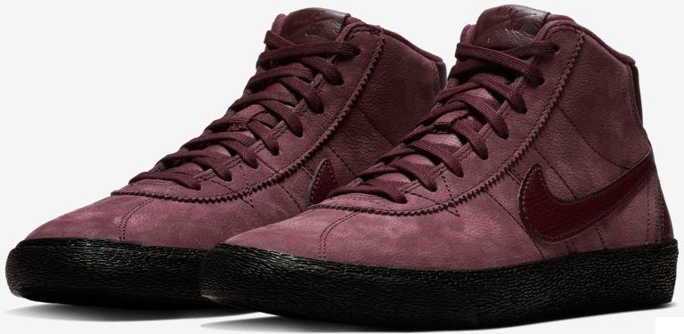 best authentic 10d91 1bcac Buty Nike Womens SB Bruin High Premium (Burgundy Crush)