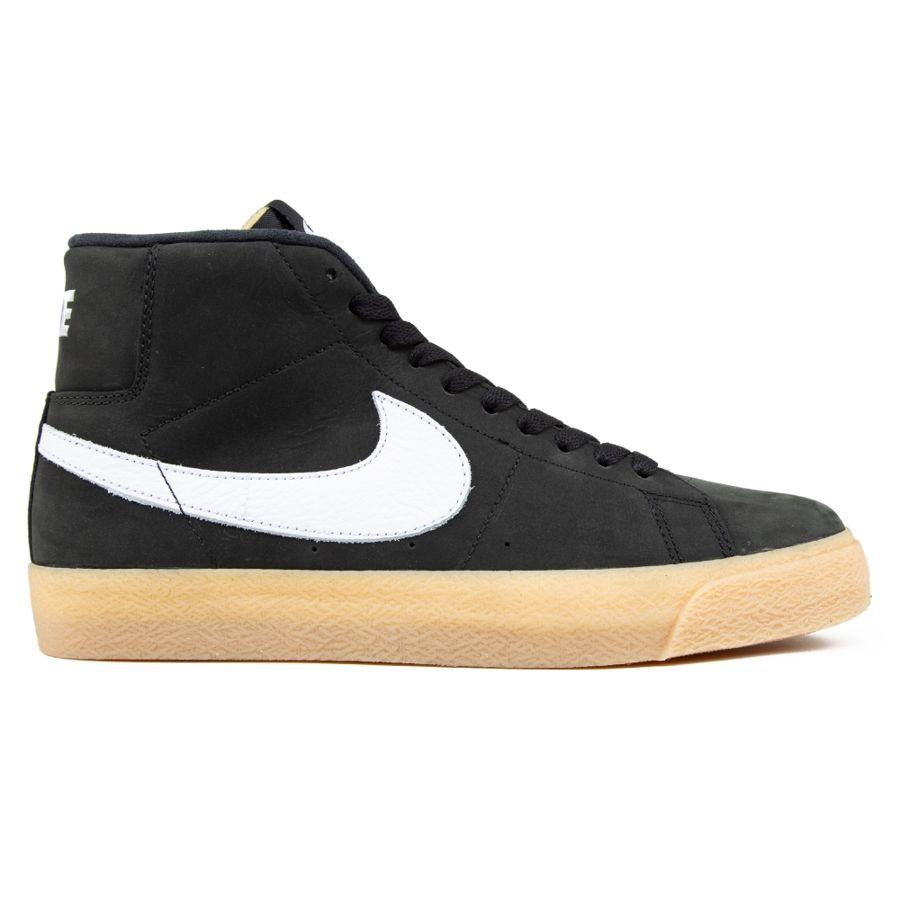sprzedaż obuwia fabrycznie autentyczne sklep Buty Nike SB Zoom Blazer Mid ISO (Black / White / Safety Orange)