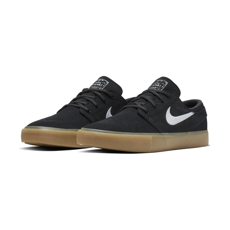 buty nike sb air zoom stefan janoski og blackwhite gum light brown