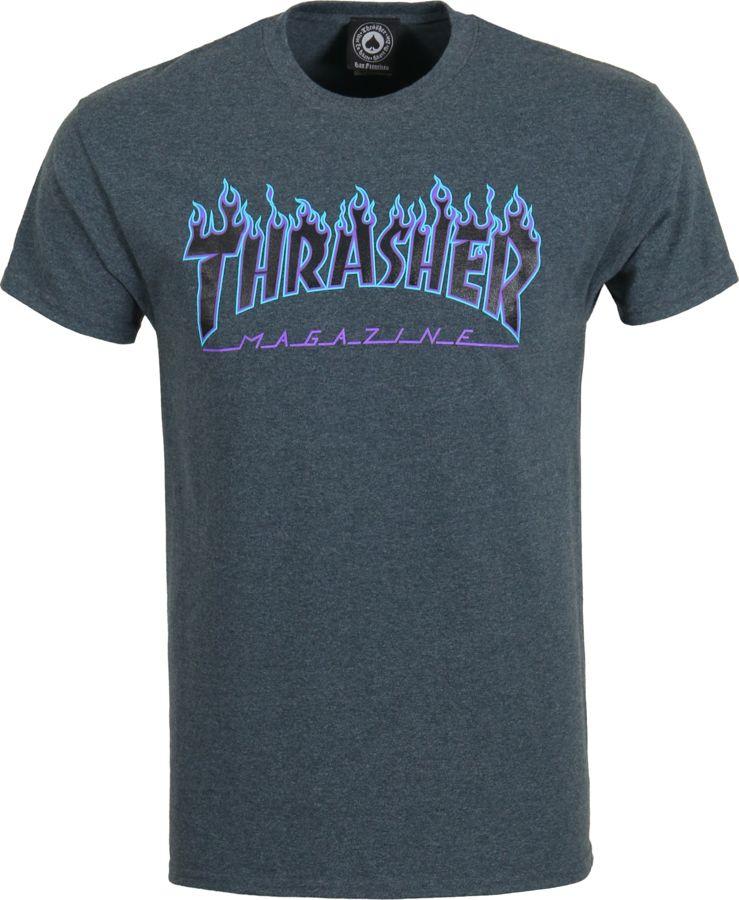 Koszulka Thrasher Flame Logo (Dark Heather)