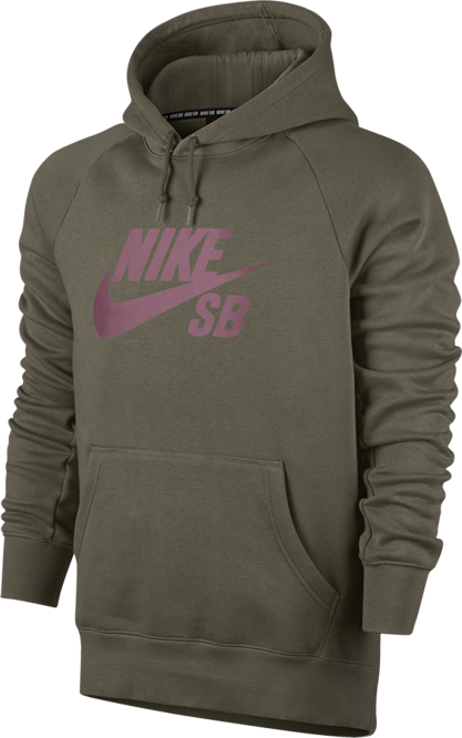Bluza Nike SB Icon Hoodie (Medium Olive / Elemental Pink)
