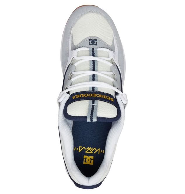 BUTY DC SKATEBOARDING KALIS LITE (WHITE/GREY/YELLOW)