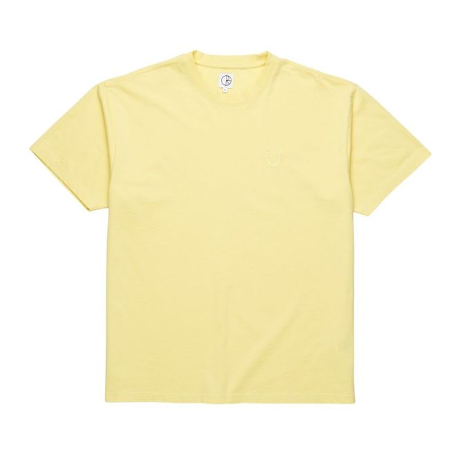 KOSZULKA POLAR SKATE CO. HAPPY SAD GARMENT DYED TEE  (LIGHT YELLOW)