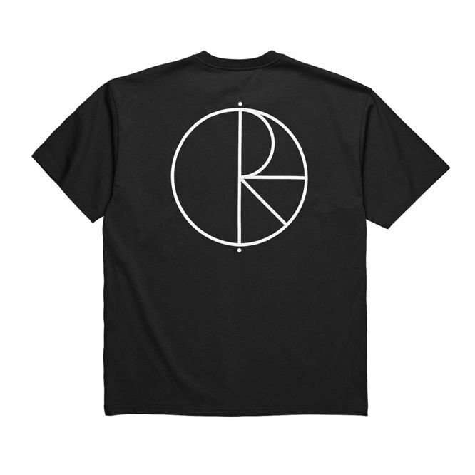 KOSZULKA POLAR SKATE CO. STROKE LOGO TEE (BLACK / WHITE)