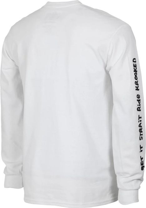 Longsleeve Krooked Stock Straite Eyes (White)