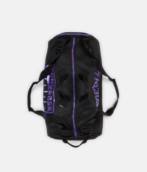 TORBA CONVERSE CONS PURPLE PACK 3 WAY DUFFEL BAG (BLACK / PURPLE)