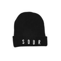 CZAPKA SOUR SKATEBOARDS EMBROIDERED ARMY BEANIE (BLACK)